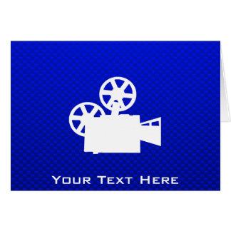 Appareil-photo de film bleu carte de vœux