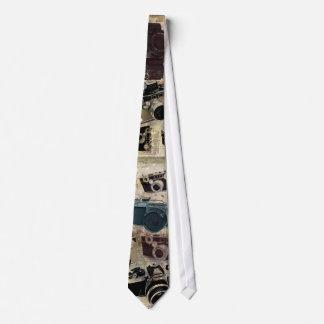 Appareil-photo grunge de cru de photographie de cravate