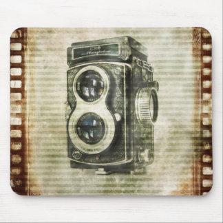 Appareil-photo grunge de cru de photographie de tapis de souris