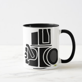 Appareil-photo. Tasse