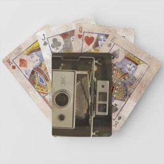 Appareil-photo vintage - cartes de jeu jeux de cartes poker