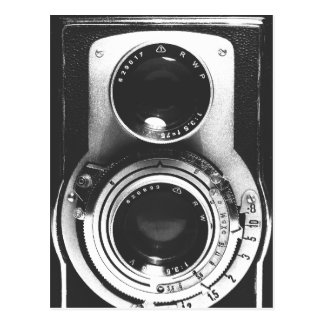 Appareil-photo vintage de b&w carte postale