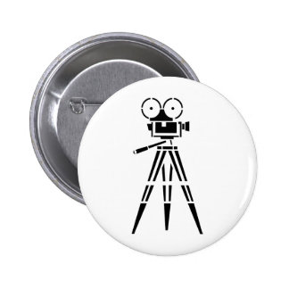 Appareil-photo vintage de décor de film de film badge