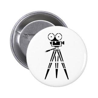 Appareil-photo vintage de décor de film de film badge rond 5 cm