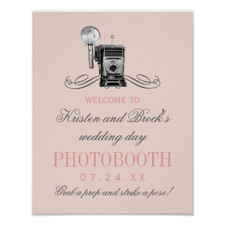 Appareil-photo vintage du signe | de Photobooth de Posters