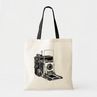 Appareil-photo vintage sac en toile budget