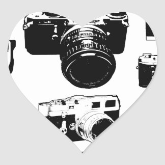 appareils photos vintage cameras sticker cœur