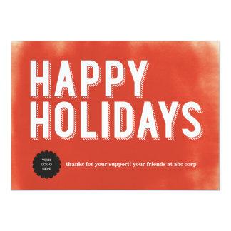 Appartement rouge peint de vacances carton d'invitation  12,7 cm x 17,78 cm