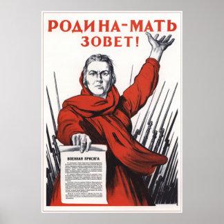 Appel de la mère patrie posters