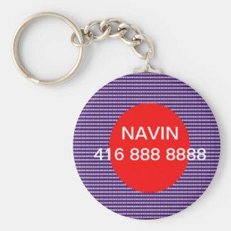 Appel--SVP remplacent le nom et le numéro de Porte-clé Rond