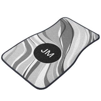 Appelez le monogramme résumé moderne tapis de voiture