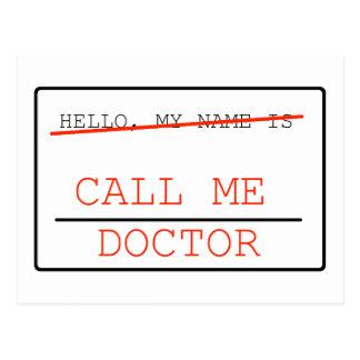 Appelez-moi docteur carte postale