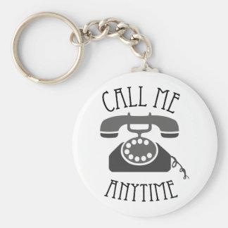 Appelez-moi n importe quand porte-clef