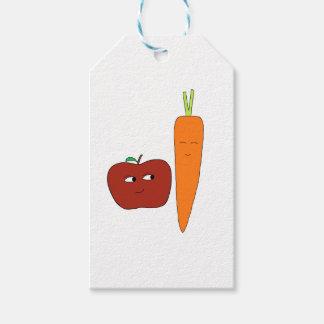 Apple-Carotte Étiquettes-cadeau