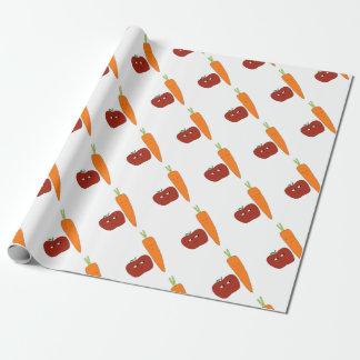Apple-Carotte Papier Cadeau