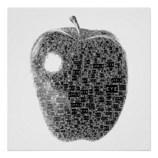 Apple de mon affiche des textes d'oeil