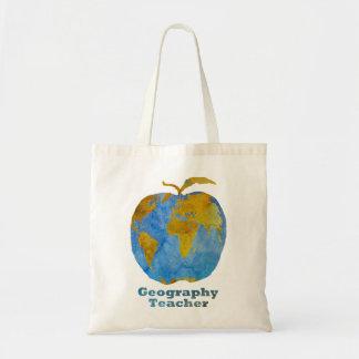 Apple du professeur de géographie sacs de toile