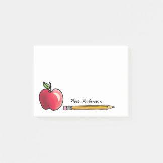 Apple et professeur personnalisé par crayon post-it®