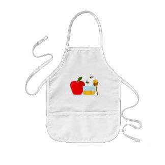 Apple et tablier d'enfants de miel