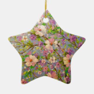 Apple fleurissant ornement étoile en céramique