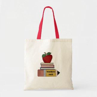 Apple, livres, roche de professeurs de crayon sacs fourre-tout