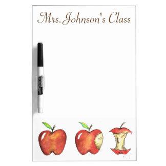 Apple rouge a personnalisé le cadeau de professeur tableaux effaçables à sec