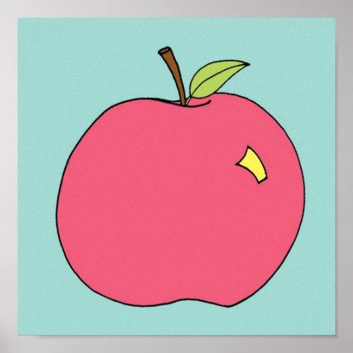 Apple rouge brillant affiches