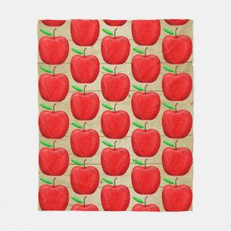 Apple rouge peint tondent la couverture