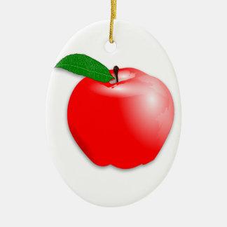 Ornements p pin ovales en c ramique p pin d corations de no l for Portent fruit