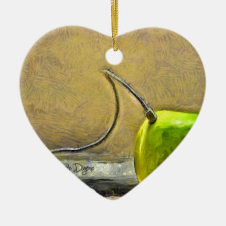 Apple téléphonent ornement cœur en céramique