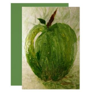 Apple vert carton d'invitation 8,89 cm x 12,70 cm