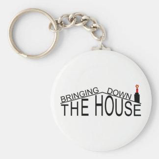 Apport en bas du porte-clés de logo de Chambre