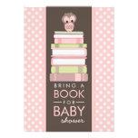 Apportez à un livre l'invitation douce de baby sho