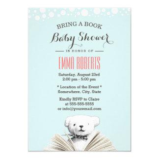 Apportez à un ours de nounours de livre les carton d'invitation  12,7 cm x 17,78 cm
