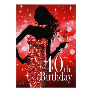 Apportez le rouge de l'anniversaire | de Bling Bristol Personnalisé
