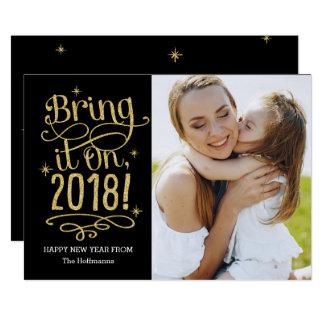 Apportez-lui le 2018 la COULEUR EDITABLE carte de