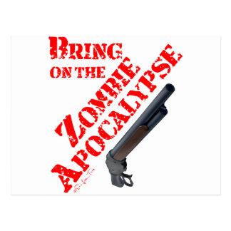 Apportez sur l'apocalypse de zombi carte postale