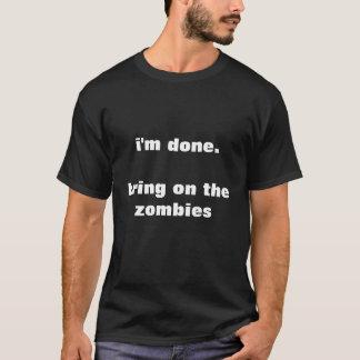 apportez sur le T-shirt de zombis