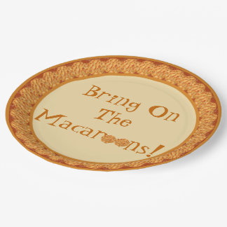 Apportez sur les macarons ! Plaque à papier Assiettes En Papier