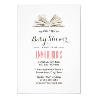 Apportez un baby shower de demande de livre carton d'invitation  12,7 cm x 17,78 cm