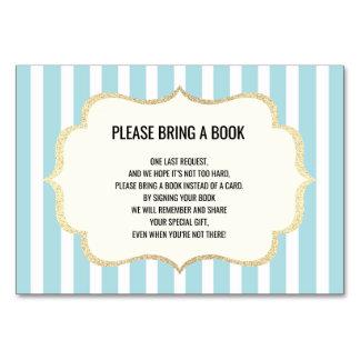 Apportez un livre - cartes blanches bleues de baby
