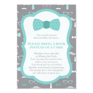 Apportez une carte de livre, petit homme, baby carton d'invitation 8,89 cm x 12,70 cm