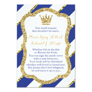 Apportez une carte de livre, petit prince, baby carton d'invitation 8,89 cm x 12,70 cm