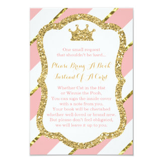Apportez une carte de livre, petite princesse, carton d'invitation 8,89 cm x 12,70 cm