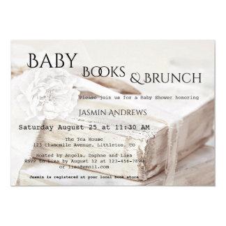 Apportez une invitation de baby shower de livre