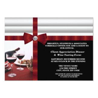 Appréciation d'entreprise de client d'événement carton d'invitation  12,7 cm x 17,78 cm