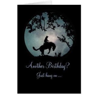 Appréciez la carte d'anniversaire de cowboy de