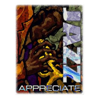 Appréciez la carte postale de jazz