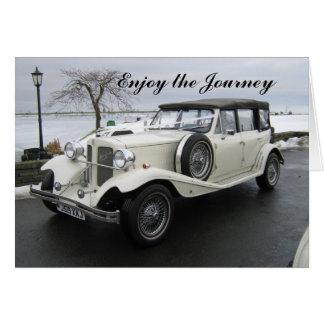 Appréciez la voiture de voyage carte de vœux