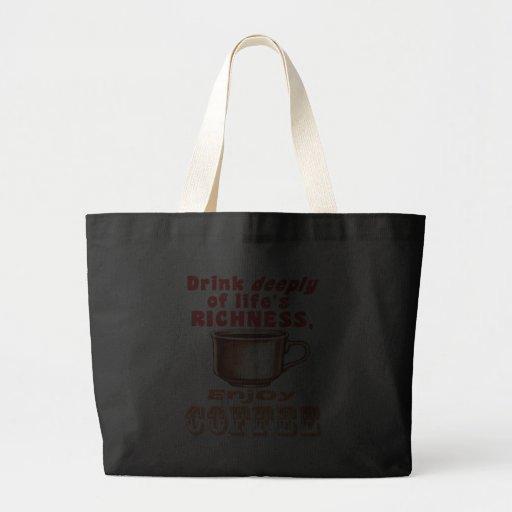 Appréciez le café sac en toile